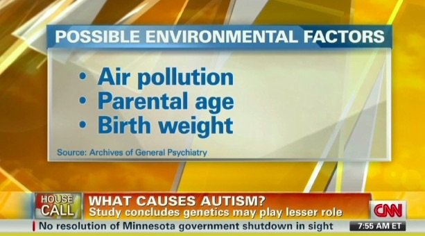 CNN Report on Top 3 Key Causes of Autism
