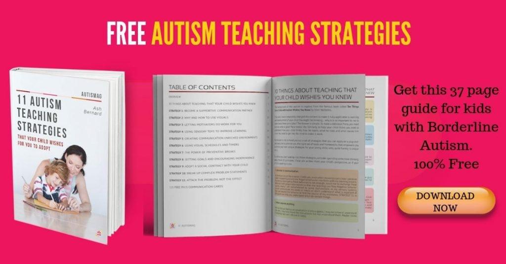 Free Autism teaching strategies