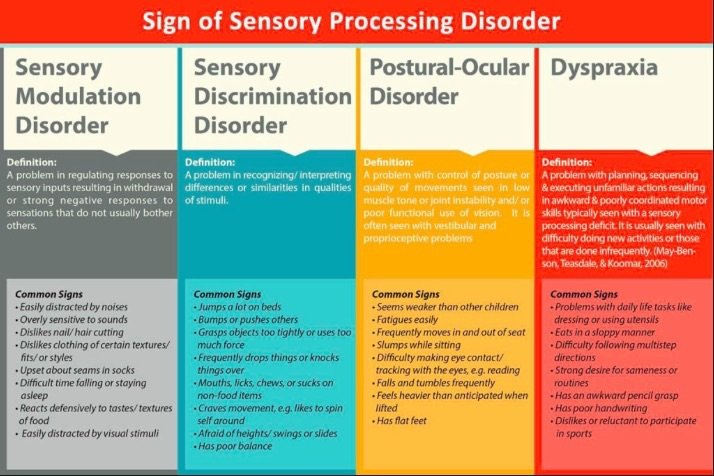 Signs of Sensory Integration Disorder