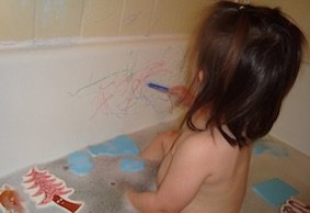 Use Tub Crayons for more fun