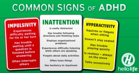common adhd symptoms in girls
