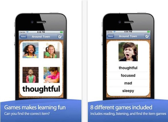 ABA Flash Cards & Games - App for Developing Emotions in Autistic Kids
