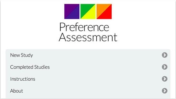 Preference and Reinforcer Assessment app for Autism
