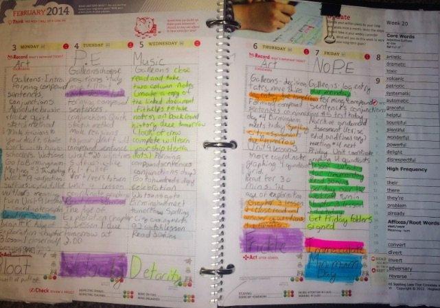 Child's planner