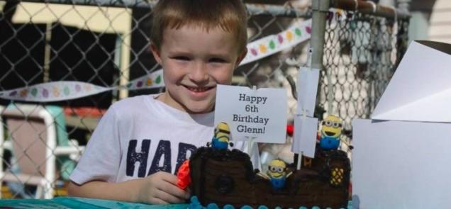 Glenn Buratti celebrating 6th birthday