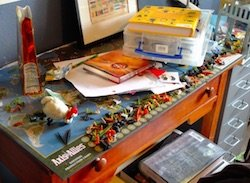 cluttered desk adhd