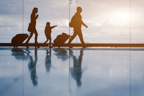 while travelling with an Autistic child
